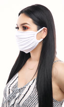 Load image into Gallery viewer, Ruched Face Mask (Light Pink, Black, White, Royal Blue, Yellow)
