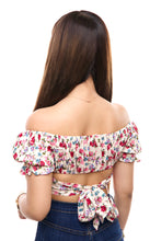 Load image into Gallery viewer, Rosa Crop Top- Cream