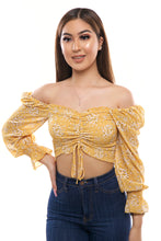 Load image into Gallery viewer, Valentina Top- Yellow