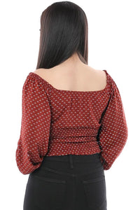Patricia Crop Top- Brick