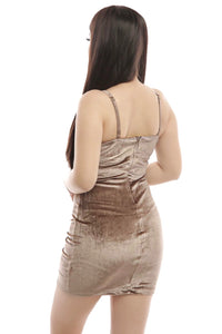 Debbie Dress- Taupe