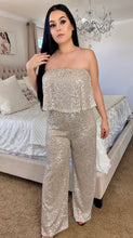 Load image into Gallery viewer, Hannah Sequin Jumpsuit- Silver