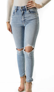 Bella Super High Rise Jeans- Light Wash