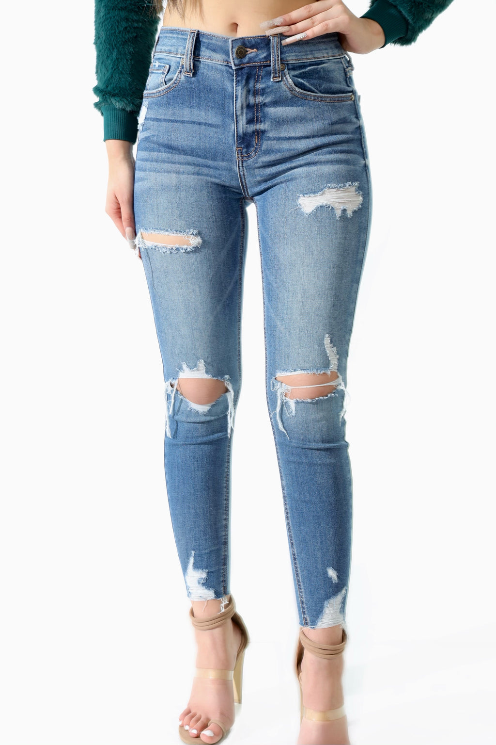 Alexia High Rise Skinny Crop Jeans