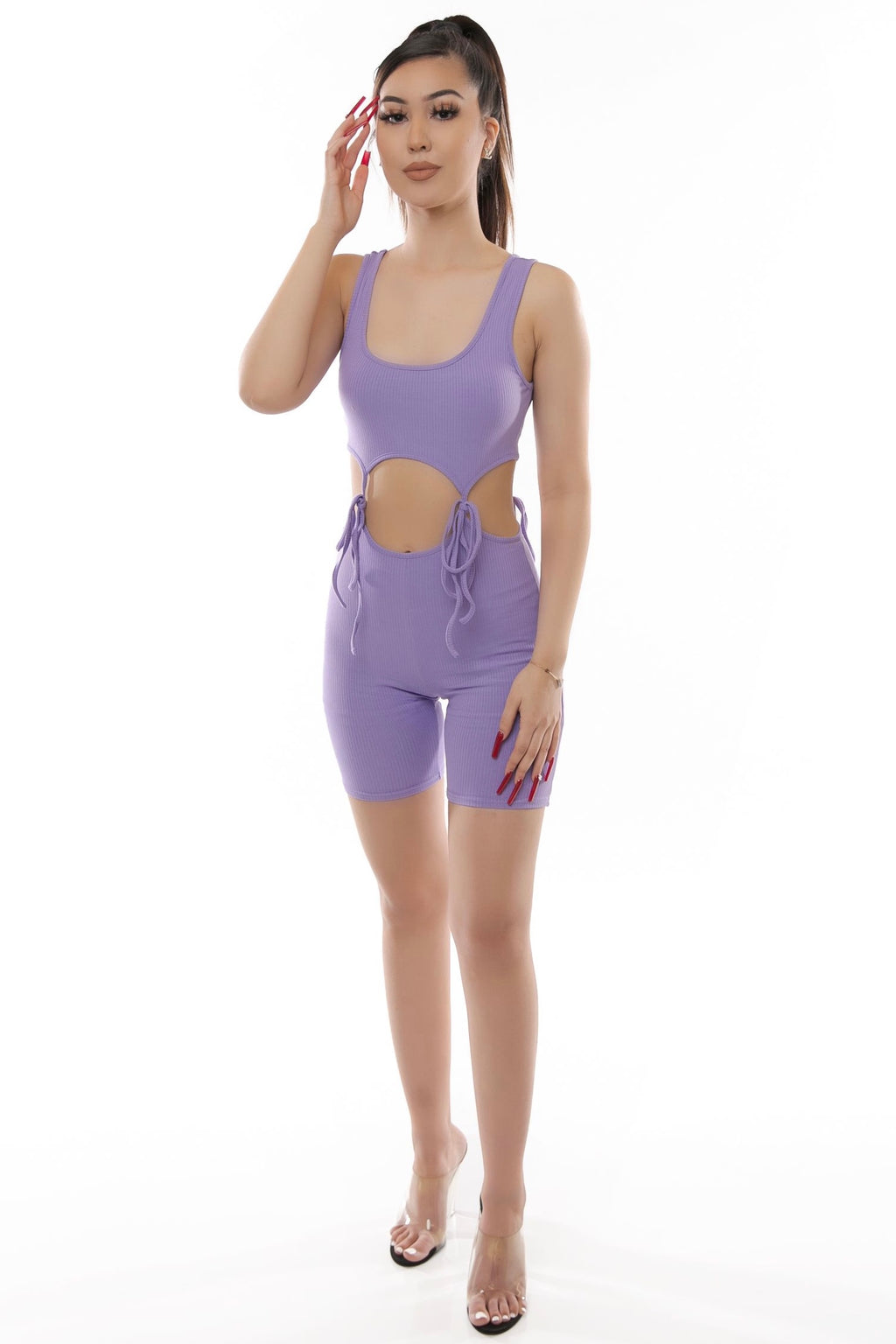 Riahnna Romper- Purple