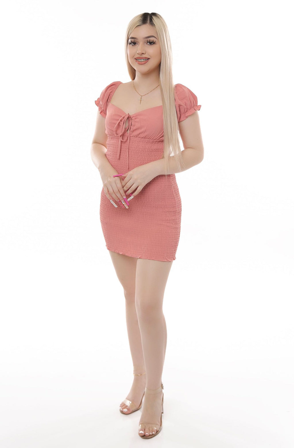 Emani Dress- Rose
