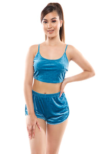 Viola Shorts Set- Dusty Blue