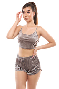 Viola Shorts Set- Grey