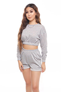 Kayla Crop Top- Grey