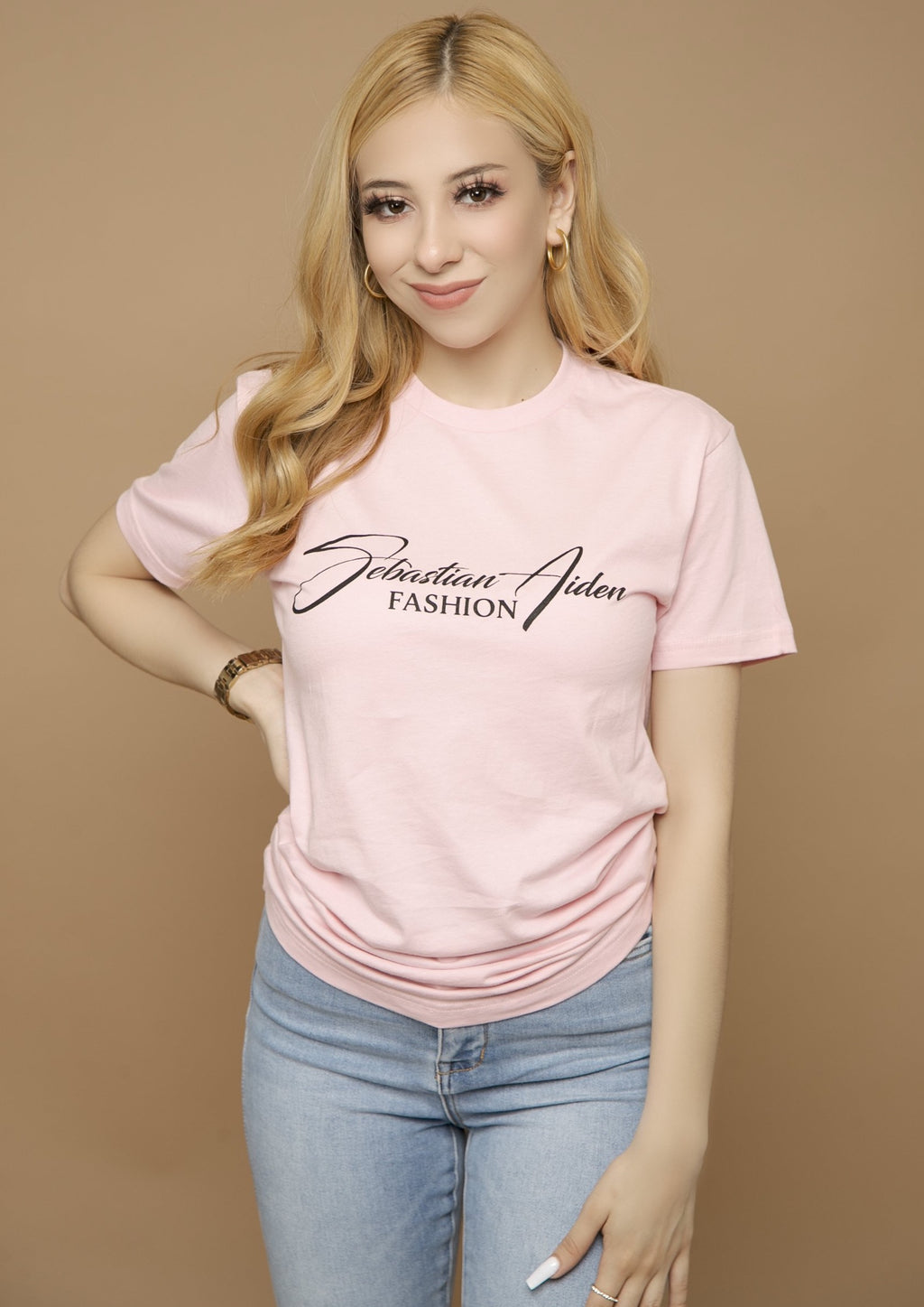 Sebastian Aiden T-Shirt- Light Pink