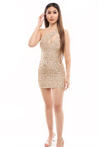 Adele Sequin Dress- Champagne