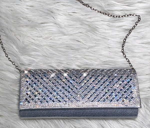 Date Night Clutch Bag- Silver