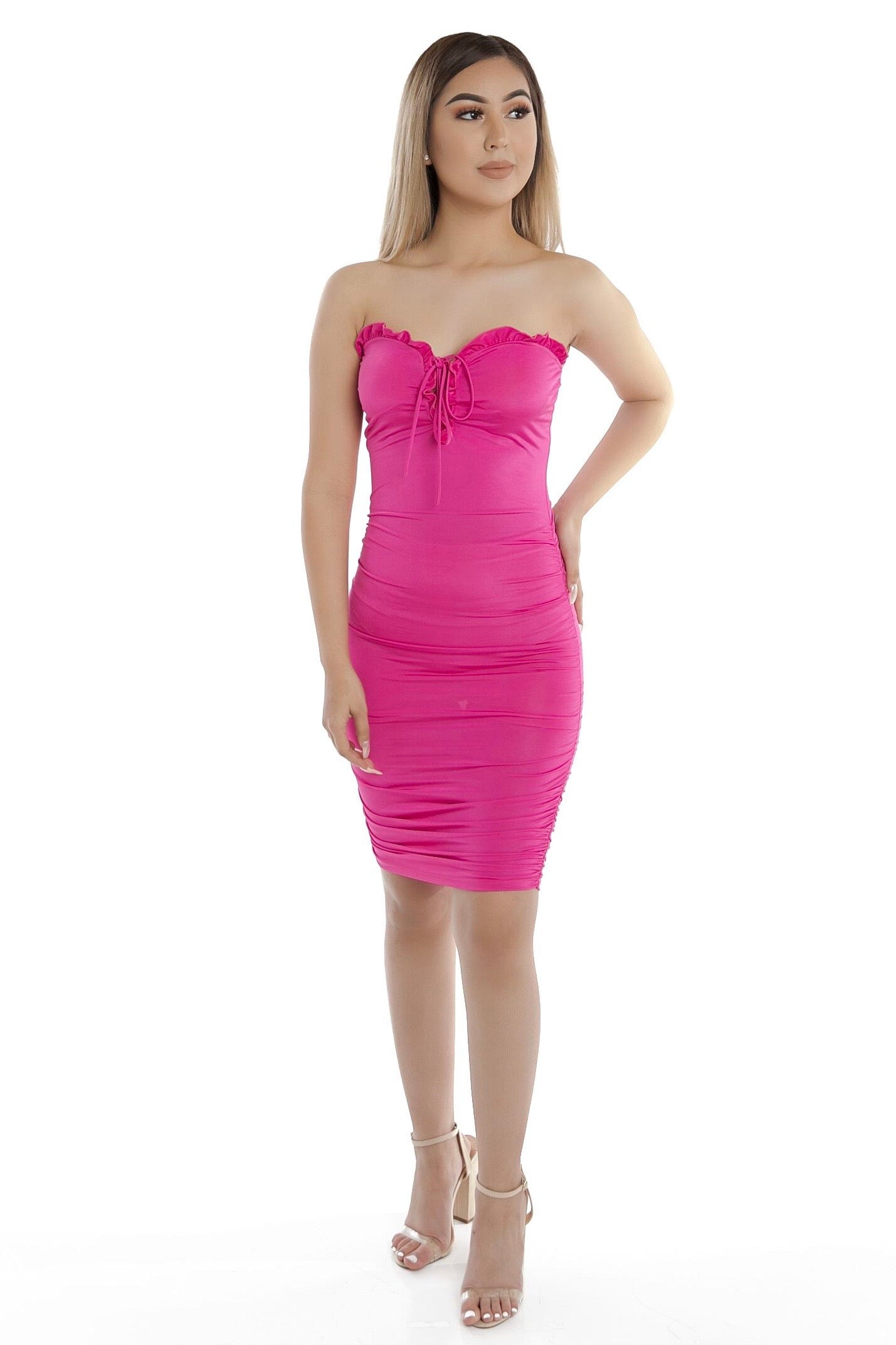 You Are Loved Dress- Fuchsia