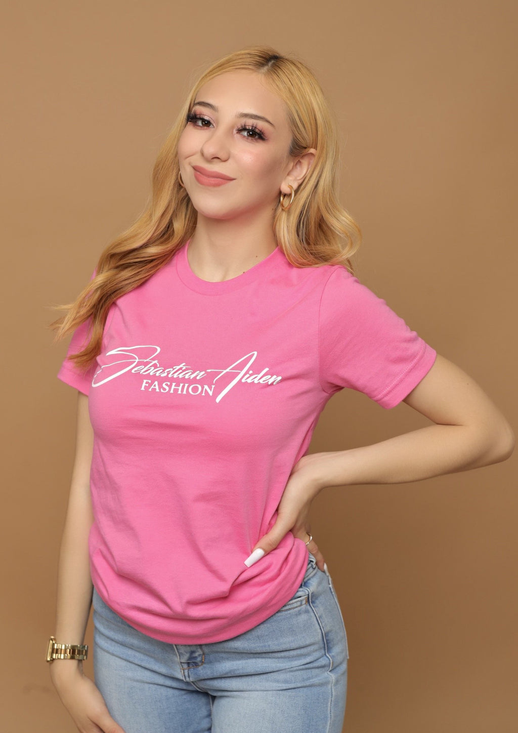 Sebastian Aiden T-Shirt- Hot Pink