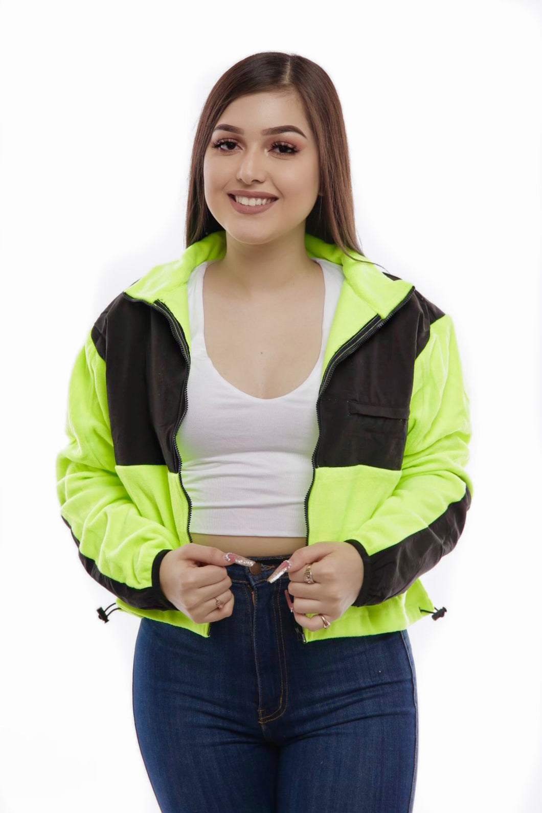 Riley Jacket- Neon Green