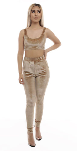 Khloe Pants Set- Taupe