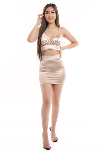 Estella Skirt Set- Nude