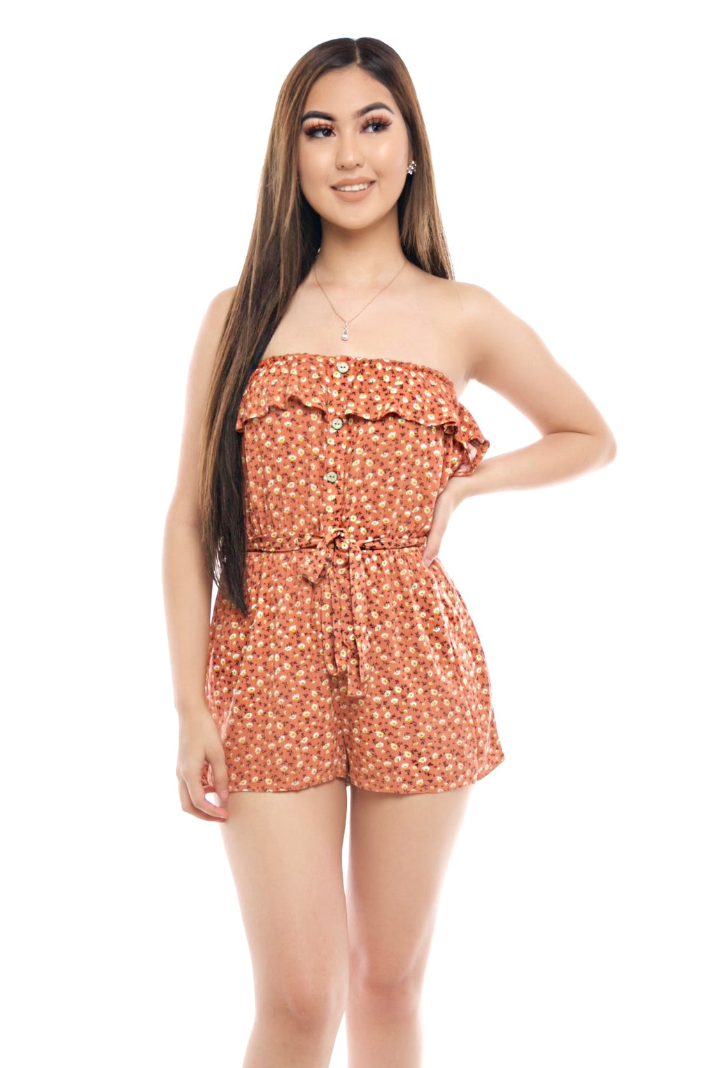 Nancy Romper- Peach