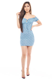 Esmeralda Dress- Sky Blue