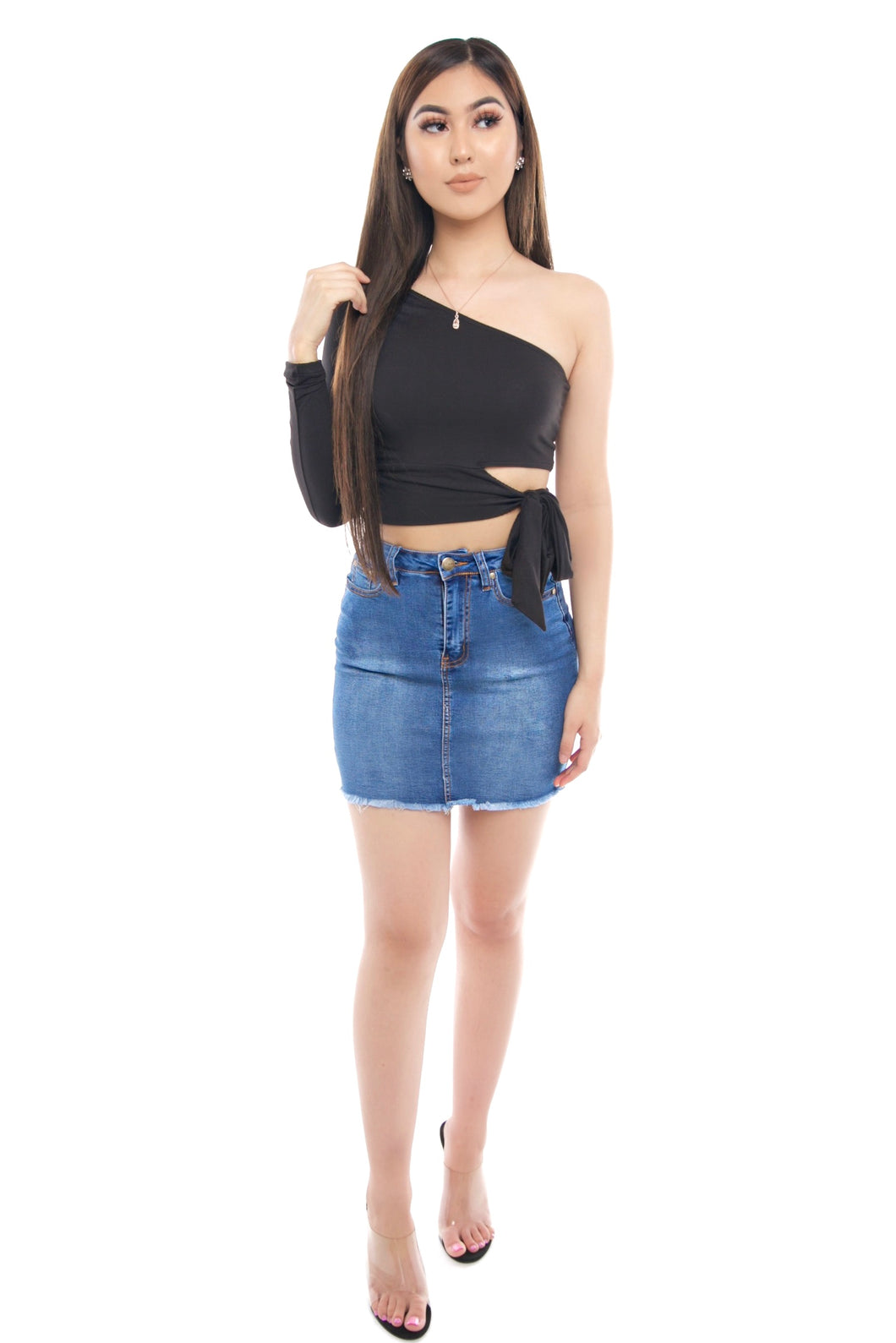 America Denim Skirt- Blue
