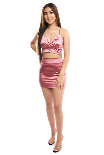 Estella Skirt Set- Pink