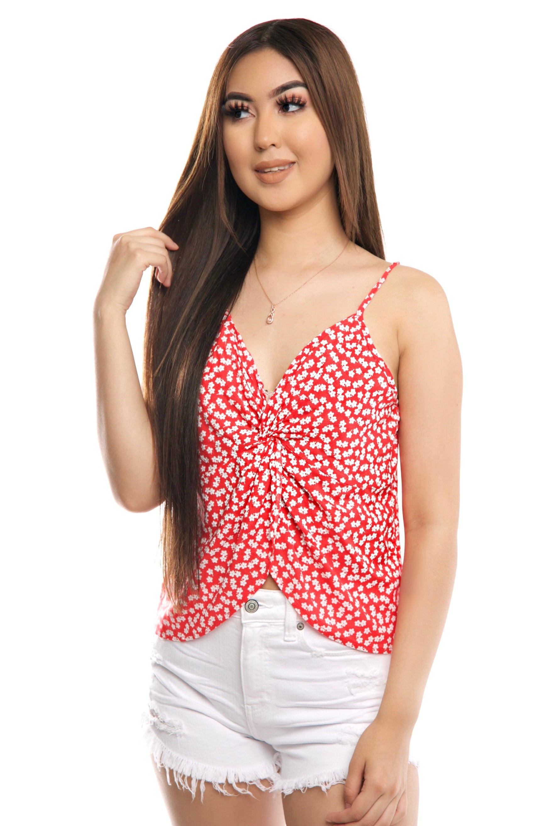 Luciana Top- Orange Red