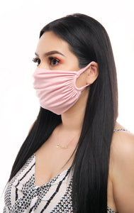 Ruched Face Mask (Light Pink, Black, White, Royal Blue, Yellow)