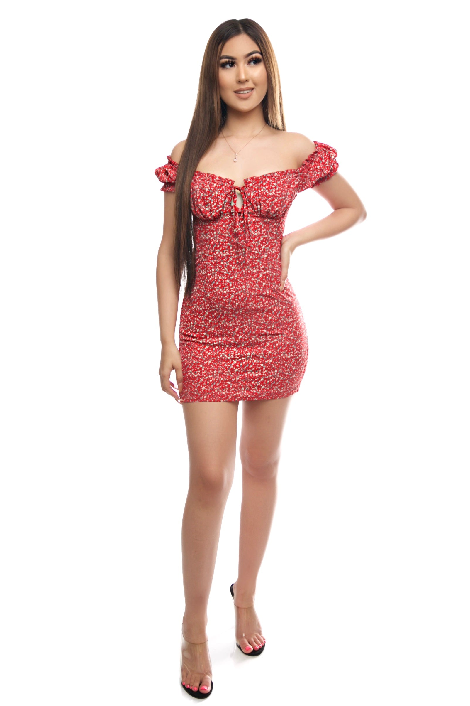 Tania Dress- Red