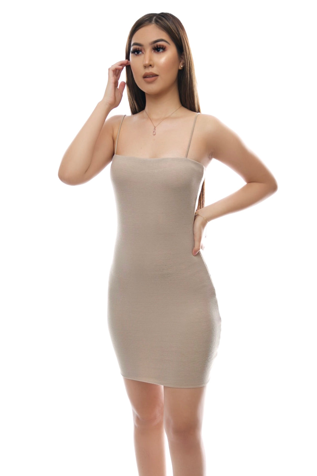 Bella Dress- Taupe