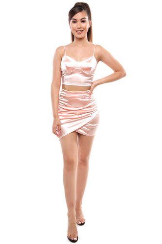Fernanda Skirt Set- Blush