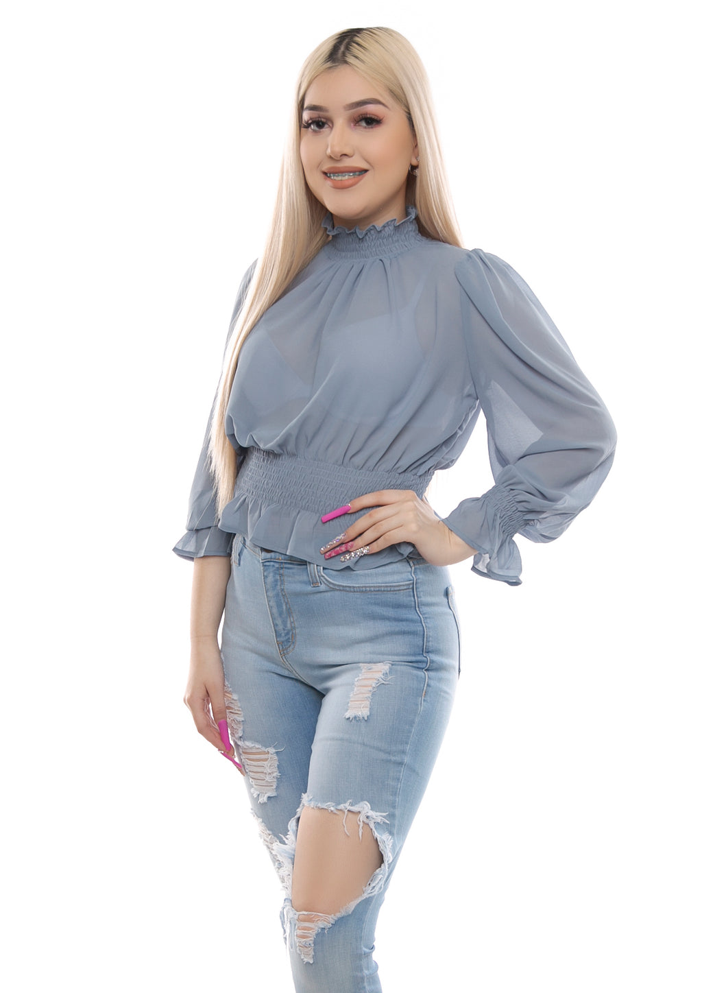 Karen Top- Light Blue