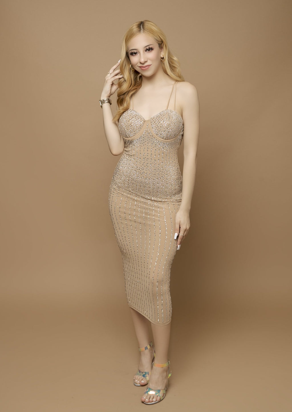 Jenika Dress- Nude