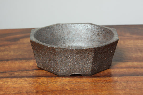 side view photo of Arakawa Octagonal Ceramic Container