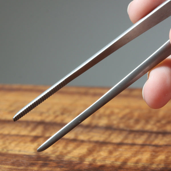 Close-up Photo of Basic Bonsai Tweezers held in hand