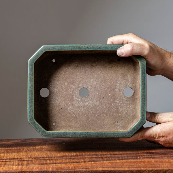 Toshio Yamaaki Cut Corner Glazed Rectangle