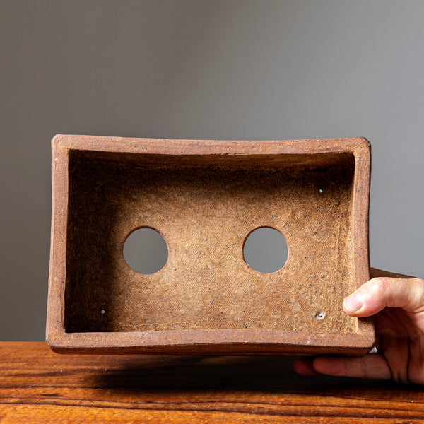 Unglazed Rectangle Container by Eric Schrader, inside view