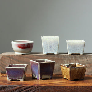 Photo of 6 Thomas Arakawa Small Glazed Bonsai Pots