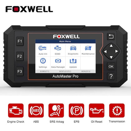 FOXWELL NT614 Elite OBD2 Car Diagnostic Tool ENG ABS SRS SAS EPB Oil Service Reset OBD2 Scanner