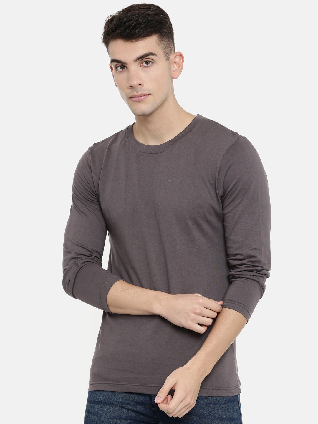 Grey Full Sleeve T-shirt Baromin