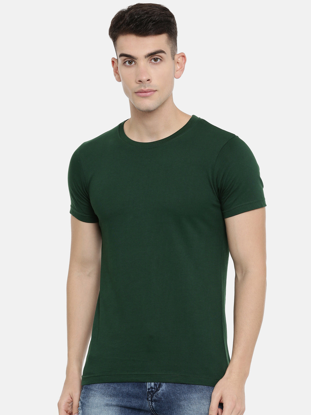 Lush Green Half Sleeve Round Neck T-shirt