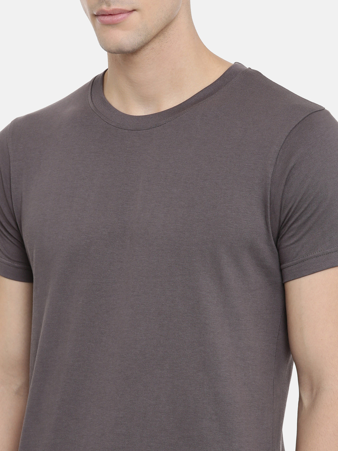 Grey Half Sleeve T-shirt Baromin