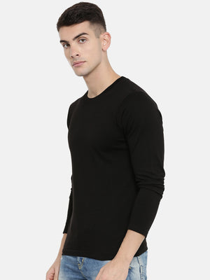 Black Full Sleeves T-shirt Baromin