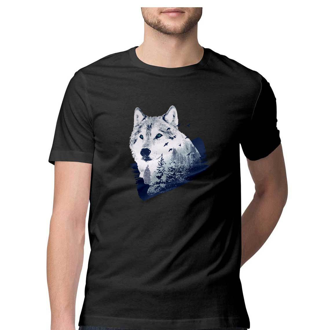 Baromin Men's printed T-shirt - Wolf