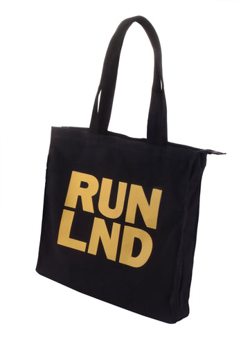 RUN LND Classic Canvas Top-Handle Tote Bag