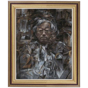 Cubist Satoshi Hand-painted Oil Painting