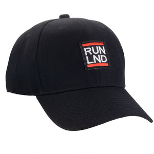 RUN LND Baseball Cap, Classic Adjustable Black Hat