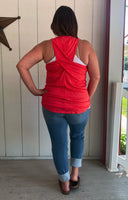 Coral Cross Back Tank