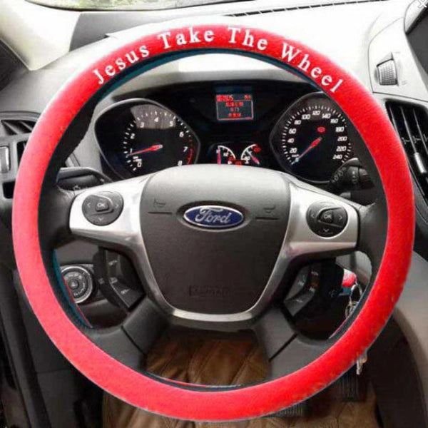 Jesus Take The Wheel, Silicone Steering Wheel Cover
