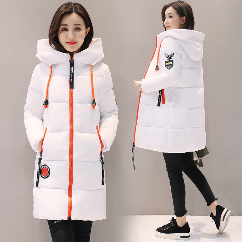 Parka Thick Cotton Padded Lining Winter Hooded
