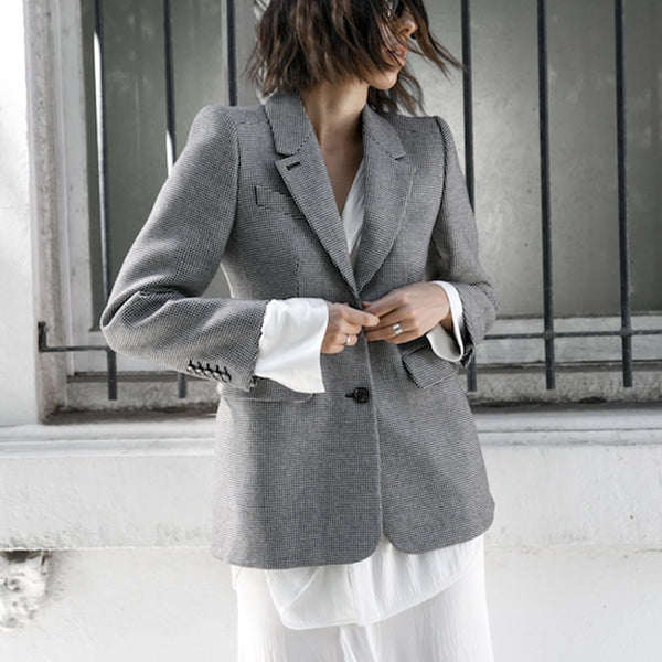 Long Sleeve Lapel Collar Slim  Women's Blazer